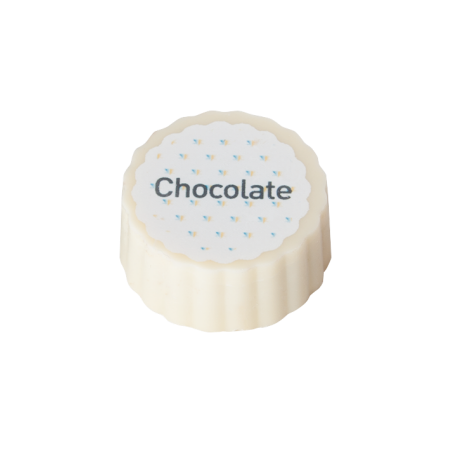 Billede af Logo bonbon, hvid chokolade