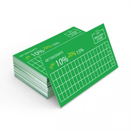 Billede af Visitkort mini blank (4+4)